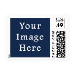 Deep Monaco Blue Color Trend Blank Template Postage Stamps