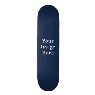 Deep Monaco Blue Color Trend Blank Template Skateboard