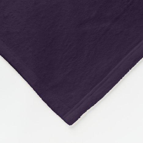 Deep Mulberry Fleece Blanket