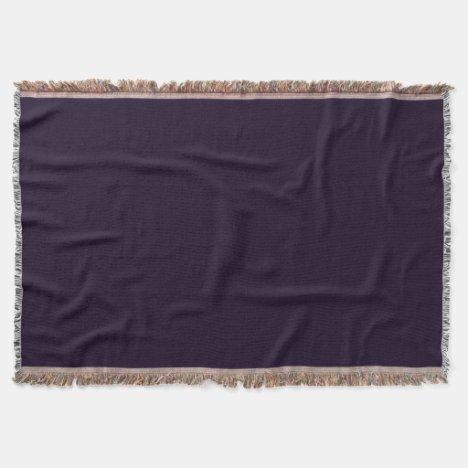 Deep Mulberry Throw Blanket