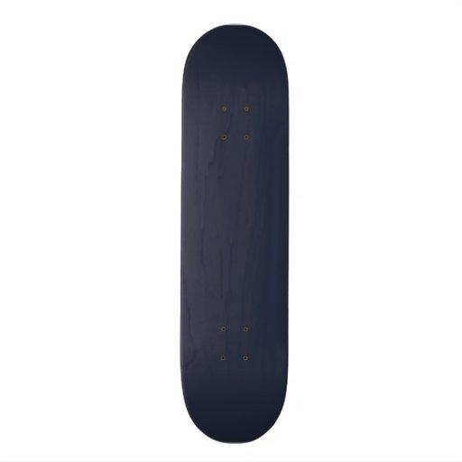 Deep Navy Blue Color Trend Blank Template Skateboard Decks