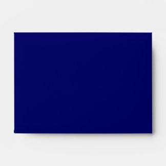 Deep Navy Blue Plain Linen A6 Envelope