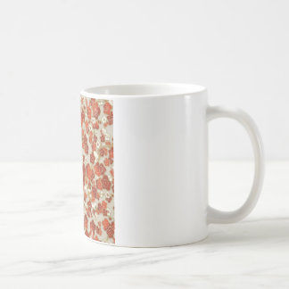 Deep Network Cherry Blossoms on Gold and Silver Classic White Coffee Mug