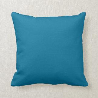 Deep Ocean Blue Personalized Aqua Teal Background Pillows