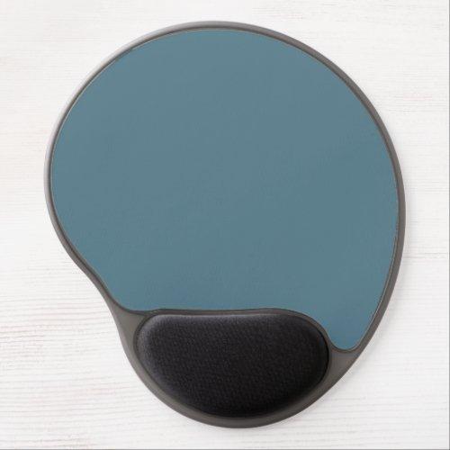Deep Ocean Blue Solid Color Gel Mouse Pad