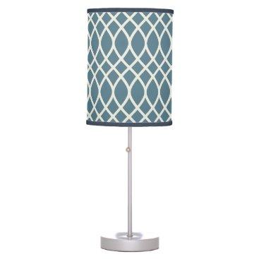 Beach Themed Deep Ocean Blue Trellis Desk Lamp