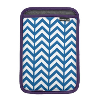 Deep Ocean Chevron 3 Sleeve For iPad Mini