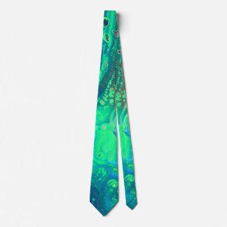 Deep ocean floor neck tie