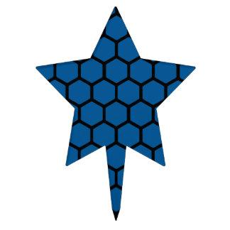 Deep Ocean Hexagon 4 Cake Topper