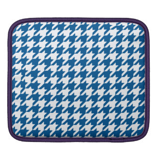 Deep Ocean Houndstooth 1 Sleeve For iPads