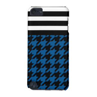 Deep Ocean Houndstooth w/ Stripes 2 iPod Touch (5th Generation) Case