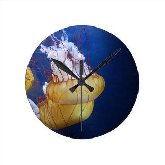 Deep Ocean Jelly Fish Round Clocks