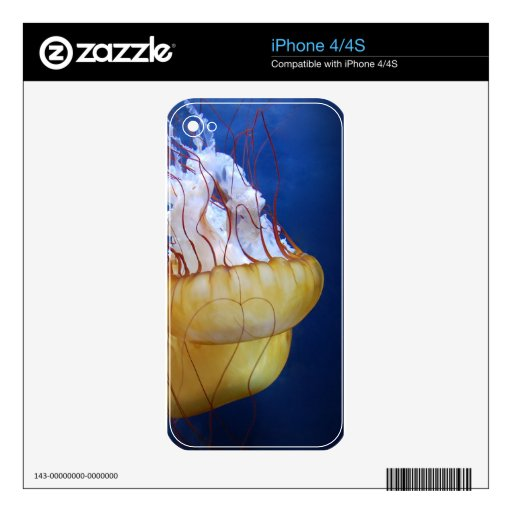 Deep Ocean Jelly Fish Skins For The iPhone 4S