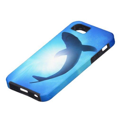 Deep Ocean Shark Silhouette Iphone 5 Cover Zazzle