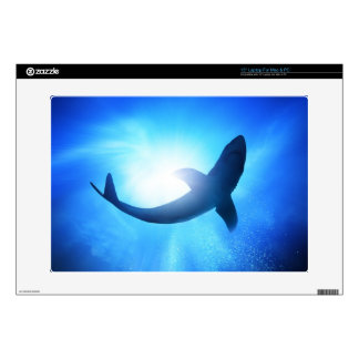 Deep Ocean Shark Silhouette Laptop Skin