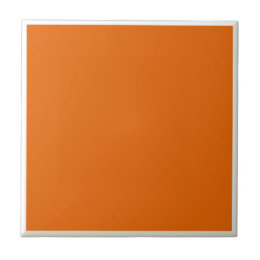 Deep Orange Ceramic Tile