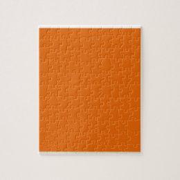 Deep Orange Jigsaw Puzzle