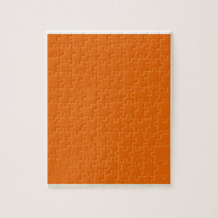 Deep Orange Jigsaw Puzzle