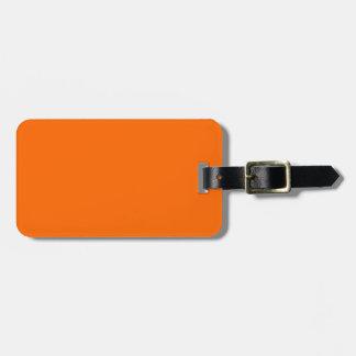 Deep Orange Luggage Tag