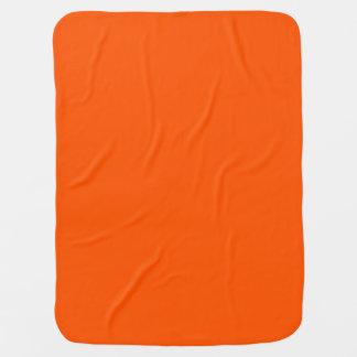 Deep Orange Mandarin Tangerine Clementine Bright Baby Blanket
