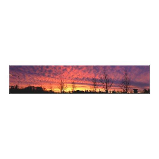 Deep Orange Purple Sunrise Canvas Print