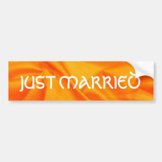 Deep Orange Silk  Wedding Bumper Sticker