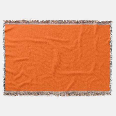 Deep Orange Throw Blanket