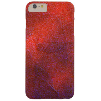 Deep Orange with Vivid Purple Blue Highlights Art Barely There iPhone 6 Plus Case