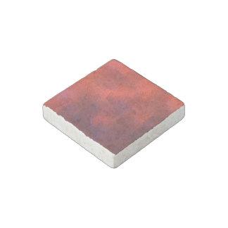 Deep Orange with Vivid Purple Blue Highlights Art Stone Magnet