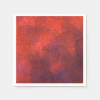Deep Orange with Vivid Purple Blue Highlights Art Disposable Napkins