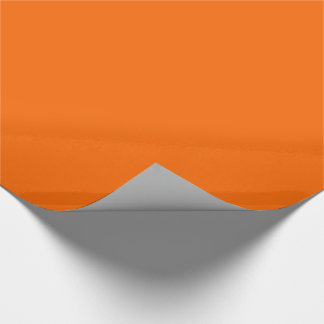 Burnt Orange Color Wrapping Paper Zazzle