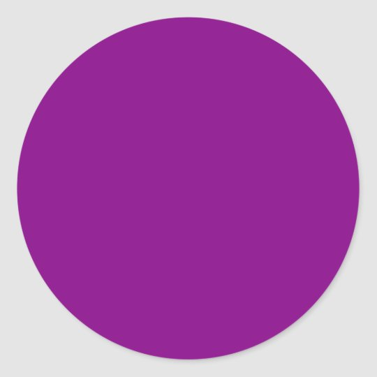 Deep Orchid Plum Purple Solid Color Background Clic Round Sticker