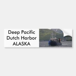 Deep Pacific, Longliner in Dutch Harbor, AK Car Bumper Sticker