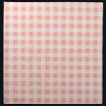 """Deep Peach Gingham Napkin<br><div class=""""desc"""">You will love this cute,  chic,  Deep Peach Gingham pattern design!  We invite you to our store,  Couples Shower Shop,  to view this cool girly design on many more great customizable products,  including modern Couples Shower invitations and gifts!  Thank you!</div>"""