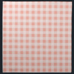 "Deep Peach Gingham Napkin<br><div class=""desc"">You will love this cute,  chic,  Deep Peach Gingham pattern design!  We invite you to our store,  Couples Shower Shop,  to view this cool girly design on many more great customizable products,  including modern Couples Shower invitations and gifts!  Thank you!</div>"