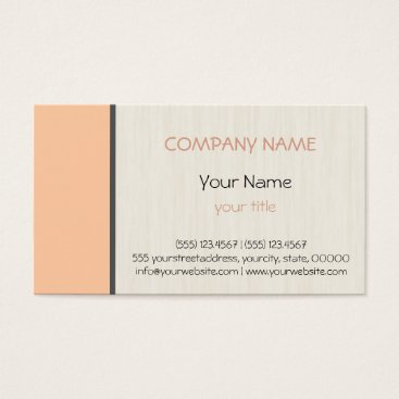 Professional Business Deep peach professional elegant modern business card