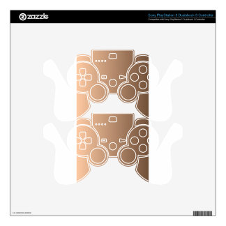 Deep Peach to Coffee Vertical Gradient PS3 Controller Skins