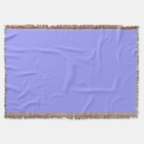 Deep Periwinkle Throw Blanket