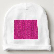 Deep  pink1 baby beanie