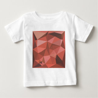 Deep Pink Abstract Low Polygon Background Baby T-Shirt