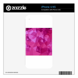 Deep Pink Abstract Low Polygon Background iPhone 4S Skins