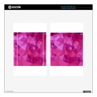 Deep Pink Abstract Low Polygon Background Skins For Kindle Fire