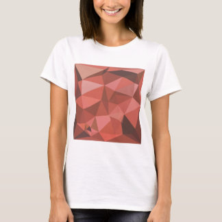 Deep Pink Abstract Low Polygon Background T-Shirt