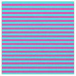 [ Thumbnail: Deep Pink and Aqua Striped Pattern Fabric ]