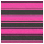[ Thumbnail: Deep Pink and Black Pattern Fabric ]