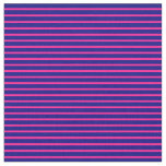 [ Thumbnail: Deep Pink and Blue Colored Lined Pattern Fabric ]