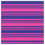 [ Thumbnail: Deep Pink and Blue Colored Pattern Fabric ]