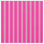 [ Thumbnail: Deep Pink and Light Gray Lined Pattern Fabric ]
