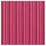 [ Thumbnail: Deep Pink and Maroon Lines/Stripes Pattern Fabric ]