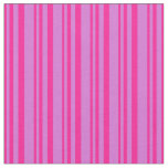 [ Thumbnail: Deep Pink and Orchid Colored Lines Fabric ]